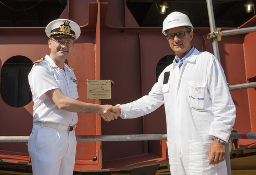 Capt. Sica (Director of UTNAV Genova) and Mr. Orlando (Director of Fincantieri shipyards in Riva Trigoso and La Spezia)