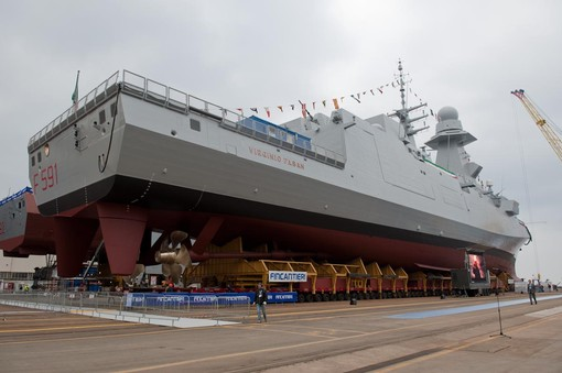 FRIGATE LAUNCHED: VIRGINIO FASAN