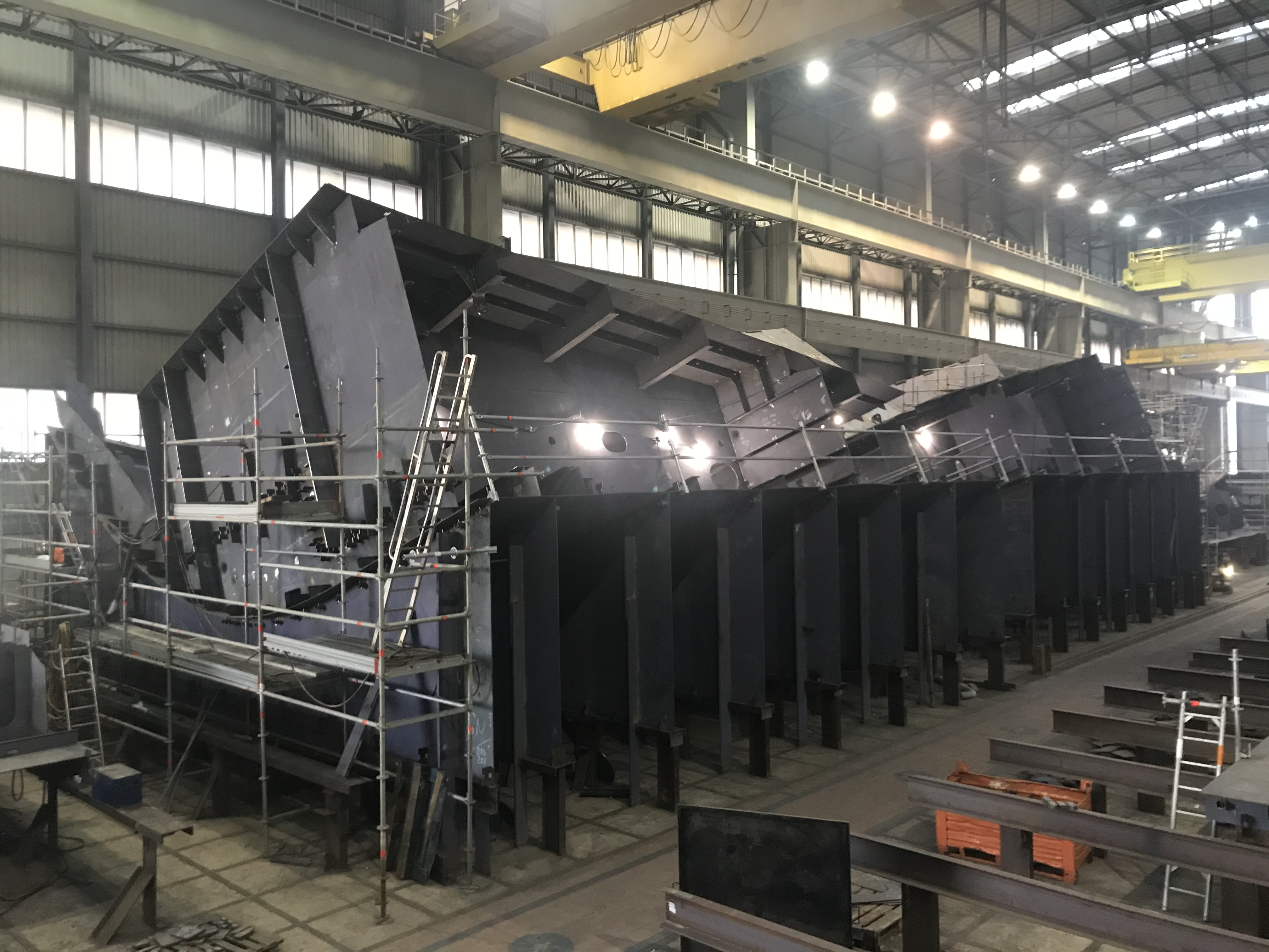 Bow section block assembly in Castellammare di Stabia @copyright: Chantiers de l'Atlantique
