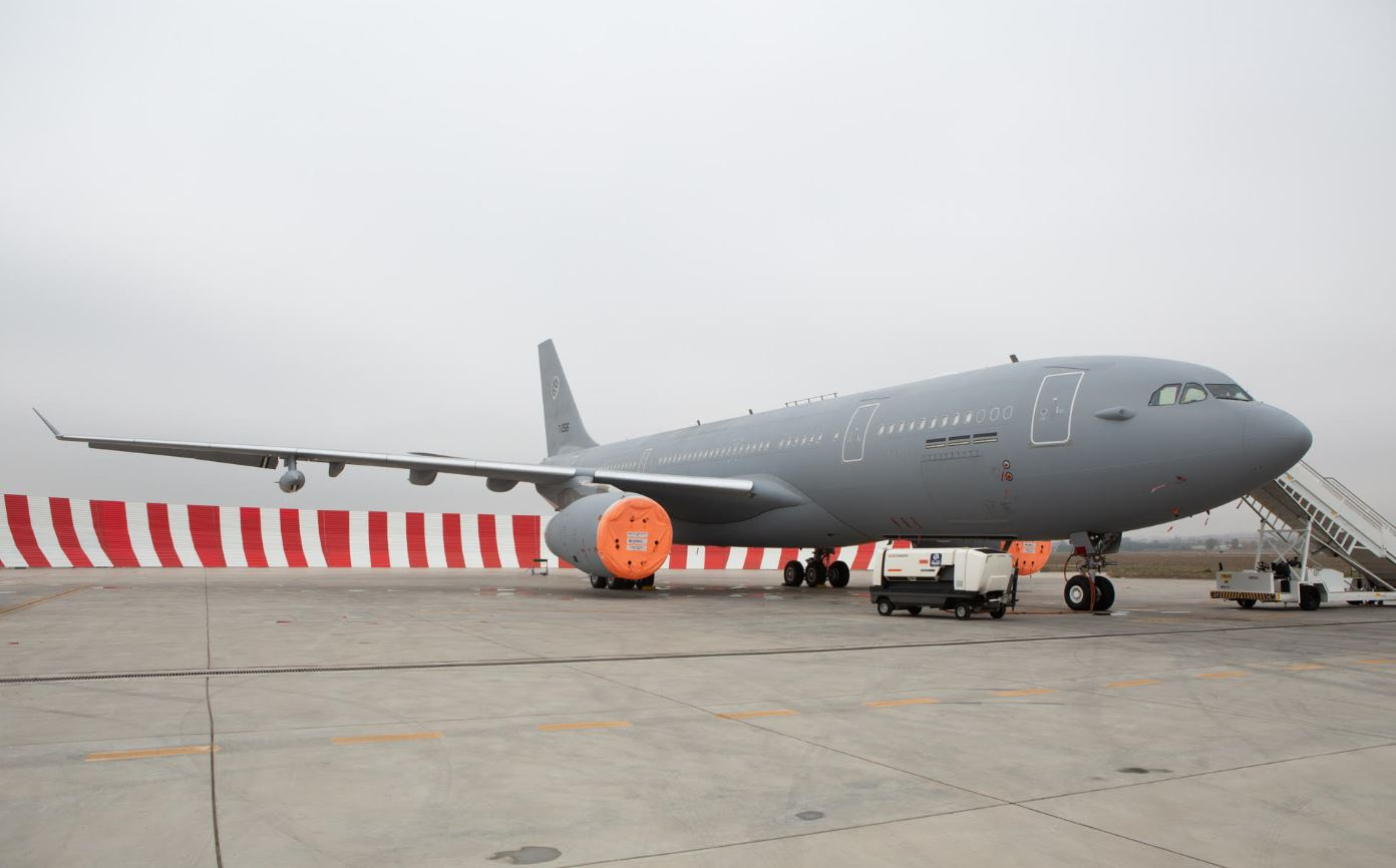 Copyright: Airbus DS MMF#3 aircraft before take-off in Getafe / Spain to MMU main operating base in Eindhoven / Netherlands