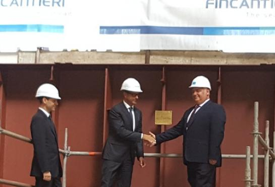 Keel Laying Ceremonies in Riva Trigoso for LSS