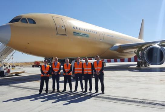 image of The MMF Programme Division at the Airbus factory at Getafe, Spain.