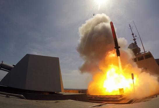FREMM frigate fires a naval Cruise Missile