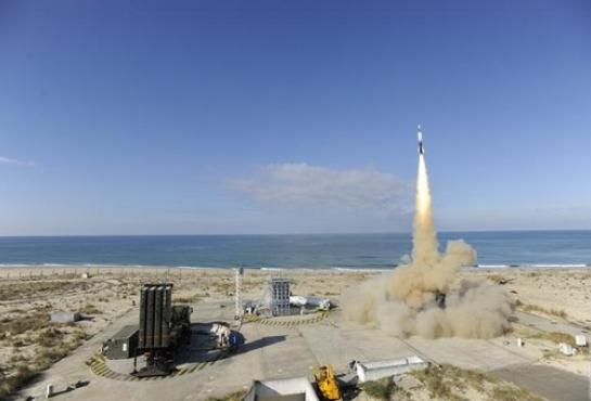 First FSAF firing against a ballistic missile