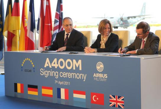 image of the A400M signing ceremony