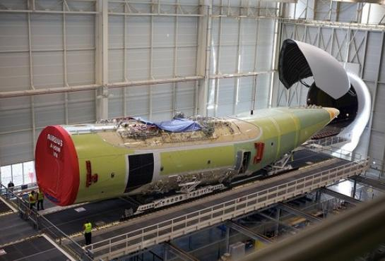 Final assembly of the first A400M for France