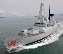 UK Type 45 Destroyer HMS Dragon (PAAMS)