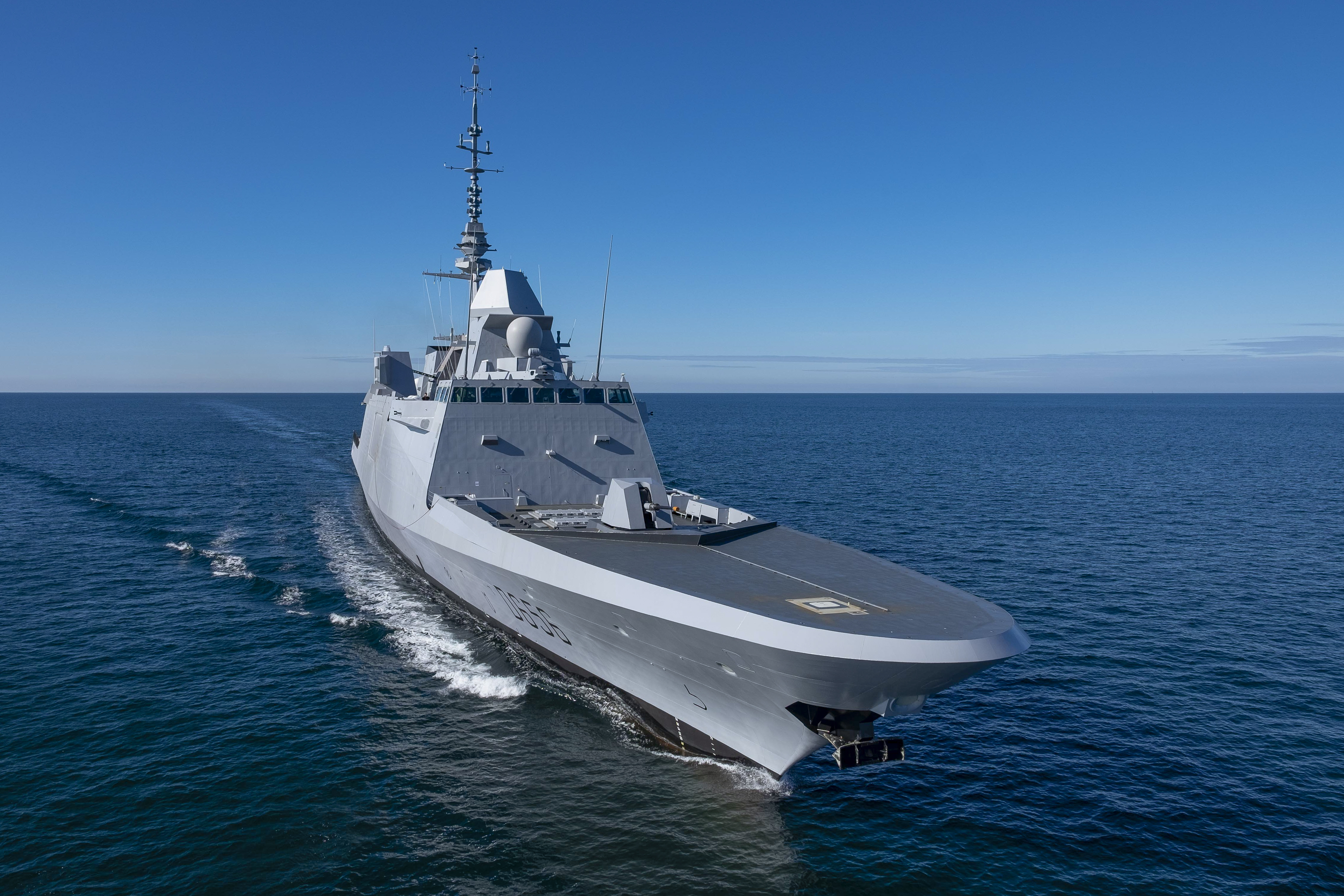 "first of two French FREMM First of Class (FOC) FREDA Ship named ""Alsace"" (7th French frigate) was accepted by OCCAR* and delivered to the French Navy"