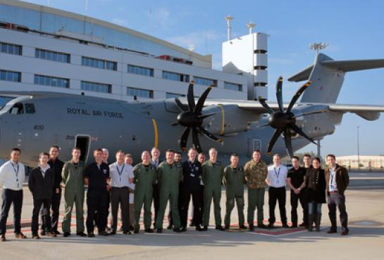 A400M enters service with the UK
